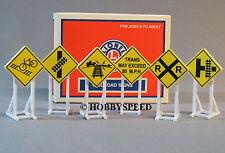 LIONEL RAILROAD CROSSING SIGNS (6) o gauge train set warning rr 6-37120