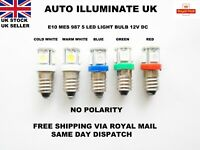 E10 987 LED MES Car Bulb Lamp Instrument Smiths Gauges Panel NO POLARITY 12V
