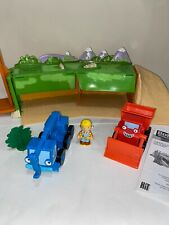 Vtg 2005 BOB THE BUILDER Vehicle Shelter Playset Figure Trucks MUCK LOFTY Lot