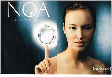 Publicité Advertising 1999 (2 pages) Le parfum Noa par cacharel