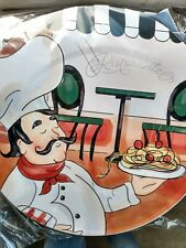 Italy Bistro Chef Stove Top Burner Cover Set Large And Small 10 inch 8 inch