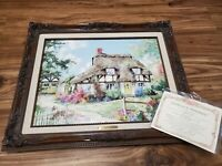 Marty Bell 1991 Blossom Lane Painting Framed w/ COA Collectors Society Limited