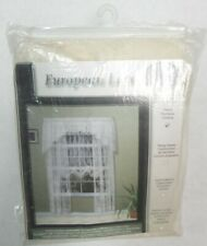 Commonwealth Home Mona Lisa Engineered Bridal Lace Window Panel 84 in. - Shell