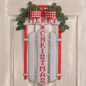 Herrschners® Christmas Sled Wall Hanging Plastic Canvas Kit