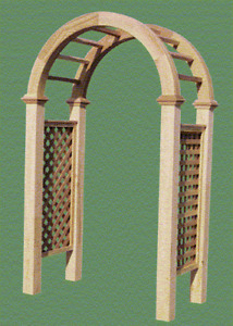 """RED CEDAR HEAVY ARBOR TOP- 3-1/2"""" X 3"""" - 36"""", 42"""" & 48"""" WIDE ARCH ONLY"""