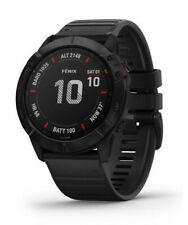 Garmin Fenix 6X Pro Montre GPS 51mm Boîtier avec Noir Silicone Bracelet  - Noir Acier inoxydable Lunette