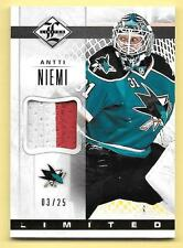 12/13 Panini Limited Materials #AN Antti Niemi 2 Color Prime Patch #03/25