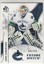 2008-09 SP Authentic #183 Cory Schneider RC future watch rookie 409/999