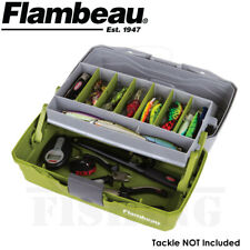 Flambeau 6381TB 1-Tray Hard Tackle Box Green Fishing Storage Organizer