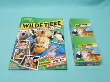 National Geographic Topps Wilde Tiere Sticker Album + 2 x Display / 60 Tüten
