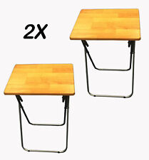 2 X LARGE FOLDING TV TABLE DINNER TABLE DISABILITY SPACE SAVING STUDENT ART HOME