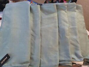X 6 Paoletti Cotton Covers In Green - 45cm x 45cm