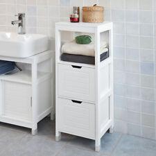 Sobuy Armadietto terra da bagno Mobiletto salvaspazio Bianco Frg127-w IT