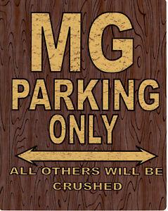 MG parking metal wall sign car shed garage workshop pub shop art office room