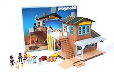 Complete Playmobil #3770 Vintage Colorado Spring Station - Cowboys Western Train