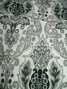 """84 """" X 51"""" DOOR CURTAIN LINED  BLACK GREY THICK  JACOBEAN FABRIC WEAVE FABRIC"""