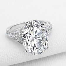 Non-described 7CT Oval Cut Diamond Certified 14K White Gold Ring For Bridal