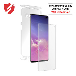 For Samsung Galaxy S10 Plus S10+ Invisible Full body Skin Case Cover  Wet Apply