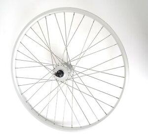 "26"" FRONT HYBRID BIKE BICYCLE WHEEL SHIMANO NEXUS DYNAMO HUB RIM BRAKE   WHCP005"