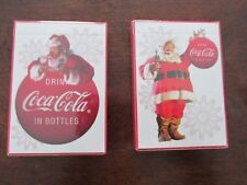 Coca-Cola Christmas Playing Cards New in plastic 2 decks Bicycle 2008