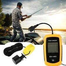 Portable Fish Finder Depth Finder Sonar Alarm LCD Boat Finder Navigation Tools