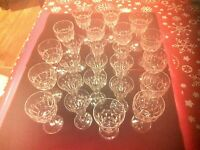 "VINTAGE ""STUART"" STEMWARE - LARGE COLLECTION OF THE CUT ""SAVOY"" PATTERN - SIGNED"