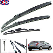 "Ssangyong Korando 2012-on hybrid wiper blades set of front & rear 24""16""14"""