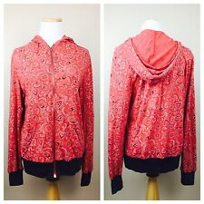 Alternative Earth Red Women's Paisley Light Front Zip Country Hoodie Small