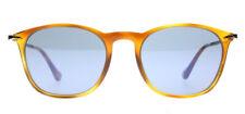 Persol PO3124S Sunglasses Light Havana 96/56 Light Blue 50mm