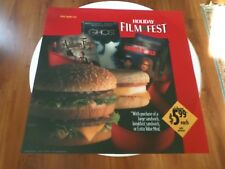 """1993 McDONALDS / HOLIDAY FILM FEST - STORE DISPLAY SIGN - 21 5/8"""" x 21 5/8"""""""