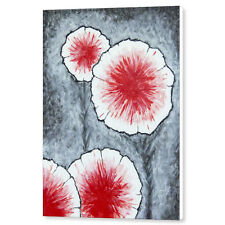 Fantasy Flowers In Red 2 18x24 Original Abstract Acrylic Painting Large Canvas