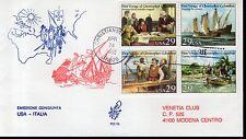1992 Usa Colombo blocco FDC Congiunta Gemella con Italia