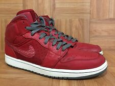 RARE🔥 Nike Air Jordan 1 Retro Phat Varsity Red Leather Cool Gray 11  364770-602