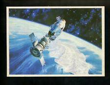 Space postcard Russian Concept Art Artist Sokolov 1978 chrome shuttle
