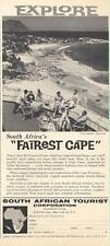 """1962 South Africa PRINT AD Explore South Africa's """"Fairest Cape"""" Clifton Beaches"""