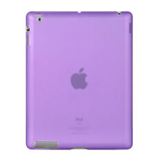 PURPLE HARD TPU GEL SKIN CASE COVER APPLE IPAD 3 4 NEW TABLET ACCESSORY