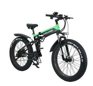 "26"" 1000 W Electric Mountain Beach Snow Folding Bike Fat Tire 48V E-Bike 50km/h"