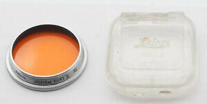 Leica Leitz orange filter chrome for Summitar 50mm f/2.0. Exc++!