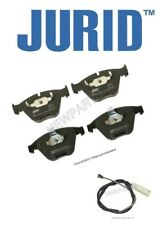 For BMW E90 E92 E93 335i 335is 10-13 Front Brake Pad Set & Front Sensor Jurid
