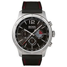 Hugo Boss Men's Stainless Steel Black Silicone Band Watch 1513525
