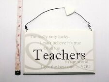Lucky Teachers Wall Plaque Christmas & End of Term Gift Ideas For Her & Him
