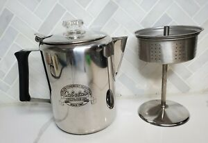 Cabela's Camping / Stove Top 9 Cup Percolator Coffee Pot 18/8 Stainless Steel