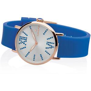 Orologio Donna Hoops 2603L-RG08 Cassa Oro Rosa Cinturino Gomma Blu