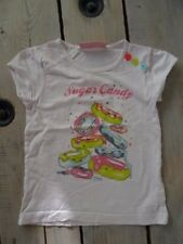 T-shirt blanc imprimé donuts SUGAR CANDY manches courtes NKY Taille 4 ans