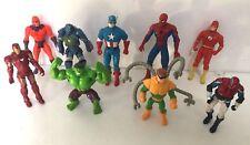Lote Paquete 9 X Marvel Los Vengadores Figuras de Acción Juguetes Hulk Capitán América C45