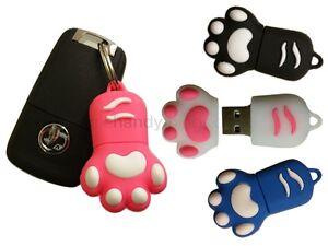 Cute Animal Paw 8GB/16G USB Novelty Flash Drive Pen/Memory Stick Pink/Blue/Black