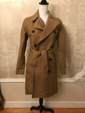 Lacoste Women's Runway Collection Double Face Trench Coat Beige Size 34 2
