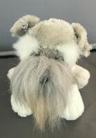 "Webkinz Schnauzer by Ganz Dog Puppy Grey Gray Plush Stuffed Animal 7"" 7 inch"