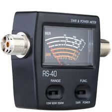 New RS-40 SWR Watt Power Meter 140-150/430-450Mhz For VHF/UHF Ham Mobile Radio