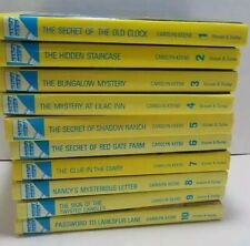 Nancy Drew Books 1-10 All Glossy Flashlight Editions.